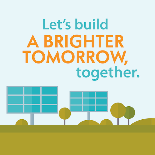 Let's Build a Brighter Tomorrow, together
