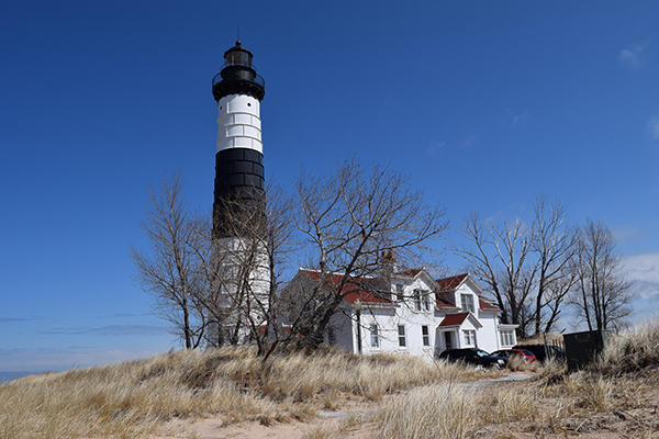 Big Pointe Sable lighthouse and lighthouse keepers' house